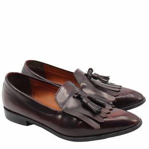Everlane The Modern Tassel Loafer Leather Brown Oxblood Kiltie Italy Slip On 11